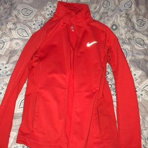 Women's Nike zip up jacket red size small